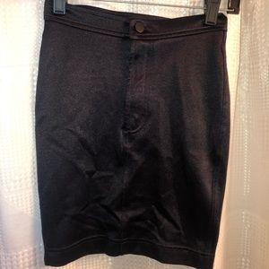 Black mini disco skirt